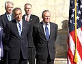Zalmay Khalilzad and Donald Rumsfeld in 2004.jpg