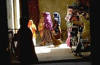 Zanzibar - A street scene in Stone Town.
