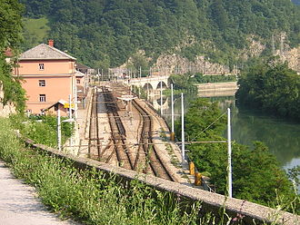 Slovenian Railways - Zidani Most railway station, an important railway junction in Slovenia