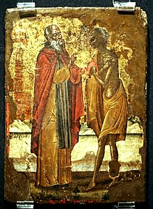 Zosimas and Mary of Egypt (Greece, 17 c.).jpg