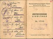 Osobní doklady z doby německé okupace Litvy