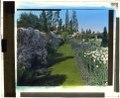 """Beacon Hill House,"" Arthur Curtiss James house, Beacon Hill Road, Newport, Rhode Island. Blue Garden, flower border LCCN2008675644.tif"