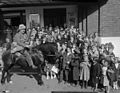 """""""Davy Crockett"""" visiting a cinema in Caernarfon (18872907974).jpg"""