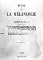 """""""Etude sur la melancolie"""", P.F. Gachet, 1864 Wellcome L0000884.jpg"""