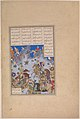 """Khusrau Parviz's Charge against Bahram Chubina"", Folio 707v from the Shahnama (Book of Kings) of Shah Tahmasp MET DP245150.jpg"