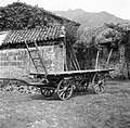 """Koreta"" (lažji voz) s ""školarji"" (lesene deske, položene na voz), Svino 1951.jpg"