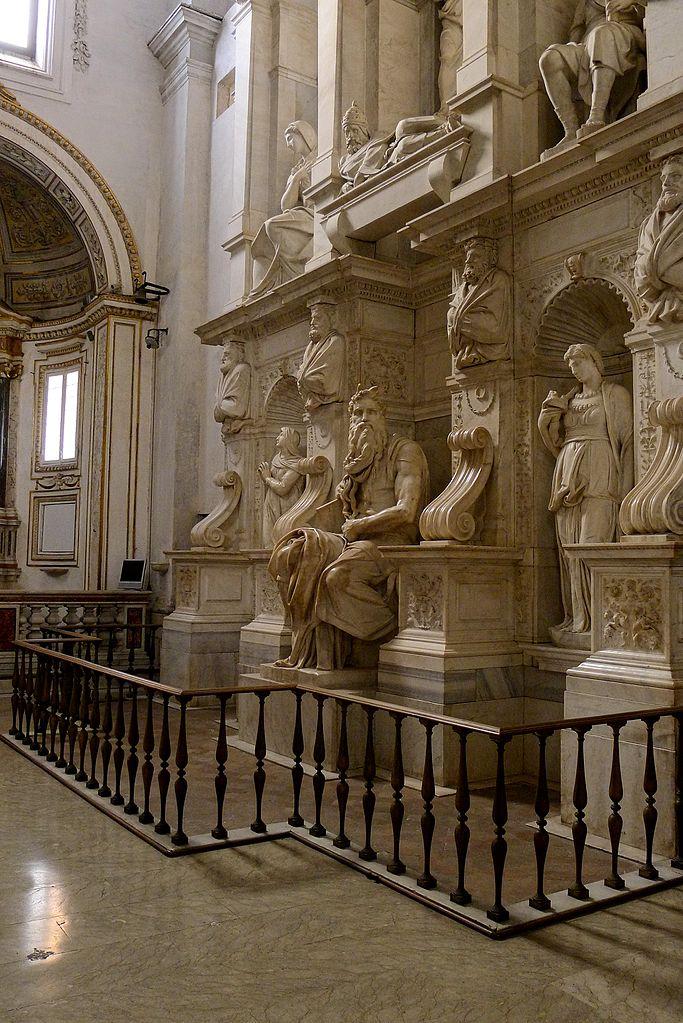 Tombeau du pape Jules II par Michel Ange dans la basilique Saint-Pierre-aux-Liens à Rome - Photo de Jörg Bittner Unna