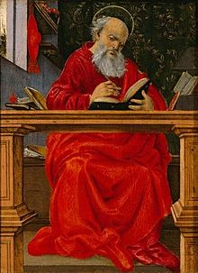 'Saint Jerome in his study', painting by Filippino Lippi, c. 1493, El Paso Museum of Art.jpg