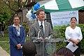 (Earth Day event promoting Washington, D.C. affordable housing-) Secretary Shaun Donovan joining Washington, D.C. Mayor Adrian Fenty, D.C. Delegate to Congress Eleanor Holmes Norton - DPLA - f61a48098f38bdd82417d6b823834eab.JPG