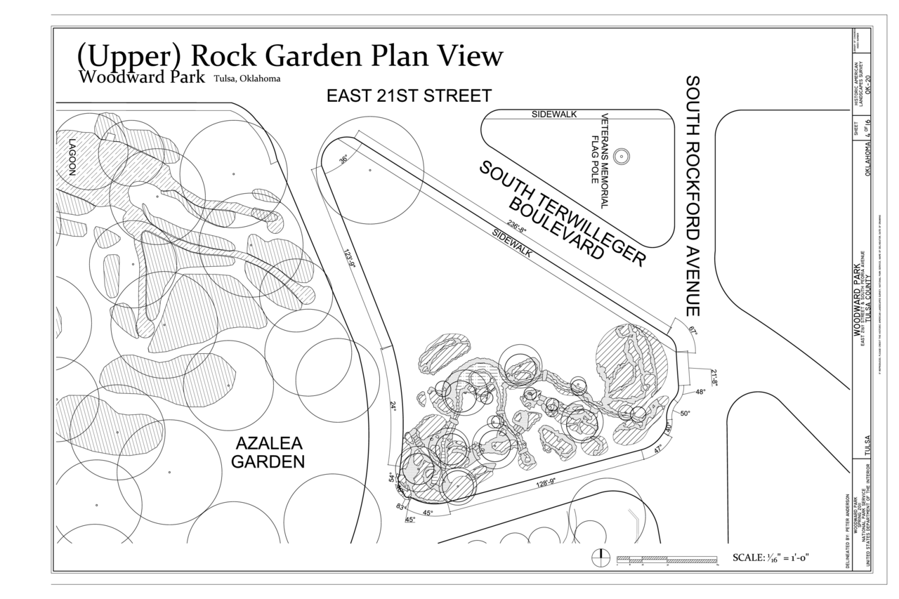 File:(Upper) Rock Garden Plan View - Woodward Park, 2101 South Peoria  Avenue, Tulsa, Tulsa County, OK HALS OK-20 (sheet 4 of 16).png