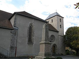 The church of Saint-Martin, in Bussière-Galant