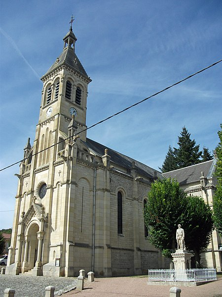 Church of Sanssat, Allier, Auvergne-Rhône-Alpes, France [11740]