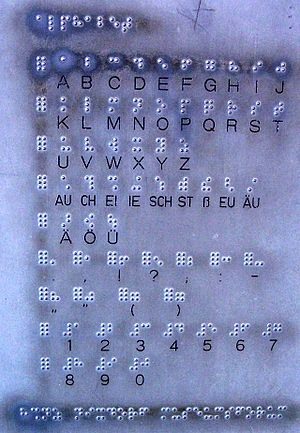 German Braille - A German Braille index at the Nixdorfmuseum