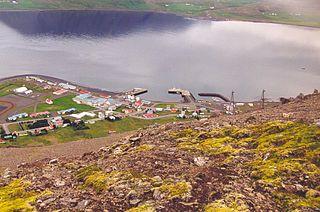 Thingeyri Village in Northwest Constituency, Iceland
