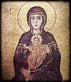 Αγία Σοφία Θεσσαλονίκης Παναγία ένθρονη 11ου ή στις αρχές του 12ου αιώνα Θεσσαλονικιώτικο εργαστήριο.jpg