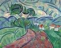 Владимир Давидович Баранов-Россине Деревенская дорога. 1908—1912.jpg