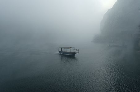 Matka Canyon under fog