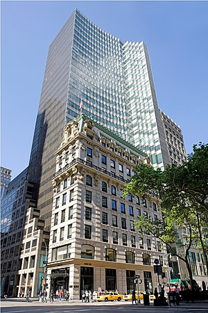 Marine Midland Bank - HSBC USA headquarters in New York City on 5th Avenue