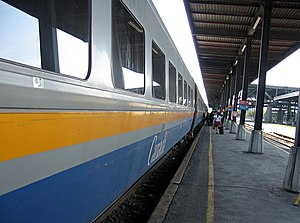 Via Rail - A Via LRC disembarking at Ottawa Train Station