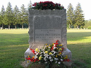 The grave of Floyd Patterson