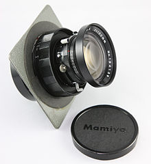 0540 Mamiya Universal Super 23 100mm f2.8 Lens with 4x5 Lensboard (9121911581).jpg