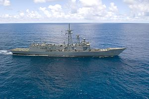 Oliver Hazard Perry-class frigate - Image: 080713 N 7949W 084 USS Rodney M. Davis (FFG 60)
