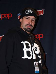 Q-Unique at a panel on hip hop and comics at the 2014 New York Comic Con