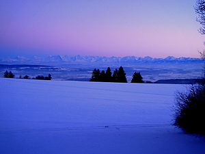 Swiss Alps - Swiss Alps seen from the Swiss Jura in December 2010