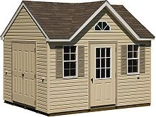 An Amish Style Vinyl Sided Shed