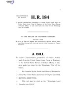 116th United States Congress H. R. 0000184 (1st session) - Winnebago Land Transfer Act of 2019.pdf