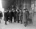14-8-22 (i.e. 14 septembre 1922,) après le conseil à Rambouillet, départ des ministres - (photographie de presse) - (Agence Rol).jpg