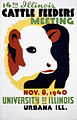 14th Illinois cattle feeders meeting, WPA poster, 1940.jpg