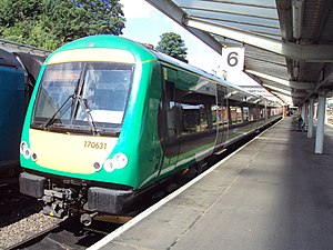 West Midlands Trains - Image: 170631 at Shrewsbury DSC08281