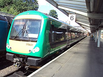 West Midlands Trains - Image: 170631 at Shrewsbury DSC08281