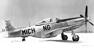 Michigan Air National Guard - Michigan Air National Guard North American P-51D Mustang 44-73227, 1946, prior to the formal establishment of the Air National Guard in September 1947.