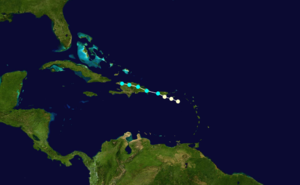 1852 Atlantic hurricane season - Image: 1852 Atlantic hurricane 2 track