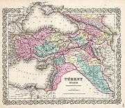 1855 Colton Map of Turkey, Iraq, and Syria - Geographicus - TurkeyIraq-colton-1855