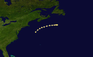 1859 Atlantic hurricane season - Image: 1859 Atlantic hurricane 2 track