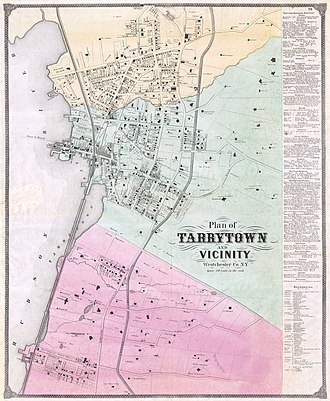 Tarrytown, New York - 1868 map