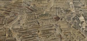Grace Church (Boston) - Image: 1870 Temple St Boston map by F Fuchs John Weik detail