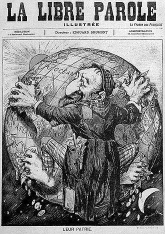 La Libre Parole - Image: 1893 La Libre Parole antisemitische Karikatur