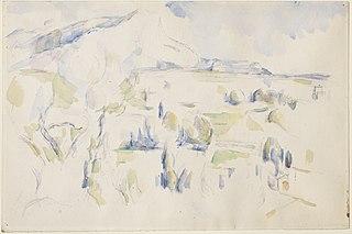 La Montagne Sainte-Victoire vue des Lauves en hiver