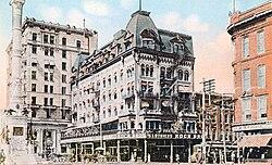1912 Hotel Allen Exterior View On Center Square Jpg