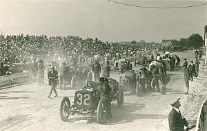 1912 American Grand Prize - The grid before the race