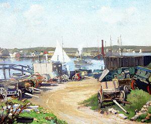 Louise Upton Brumback - Louise Upton Brumback, Gloucester, Massachusetts, 1912, oil on canvas, height: 60.33 cm (23.75 in.), width: 72.39 cm (28.5 in.)