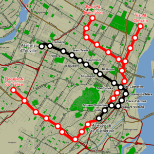 Dc Subway Map With Streets.Montreal Metro Wikipedia