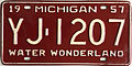 1957 Michigan License Plate.JPG