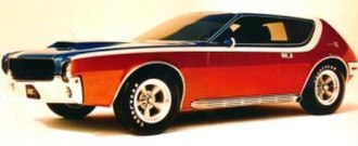 Chopping and channeling - A chopped top on an AMX GT show car that was built using a 1968 AMC Javelin production car.