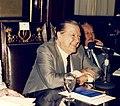 1985. El senador vitalicio Rafael Caldera preside la Comisión Bicameral para la Reforma de la Ley del Trabajo.jpg