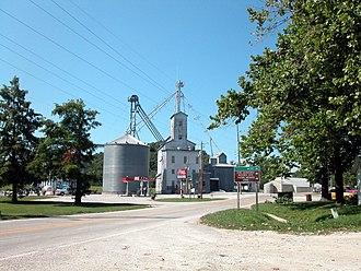Prairie du Rocher, Illinois - A grain elevator in Prairie du Rocher